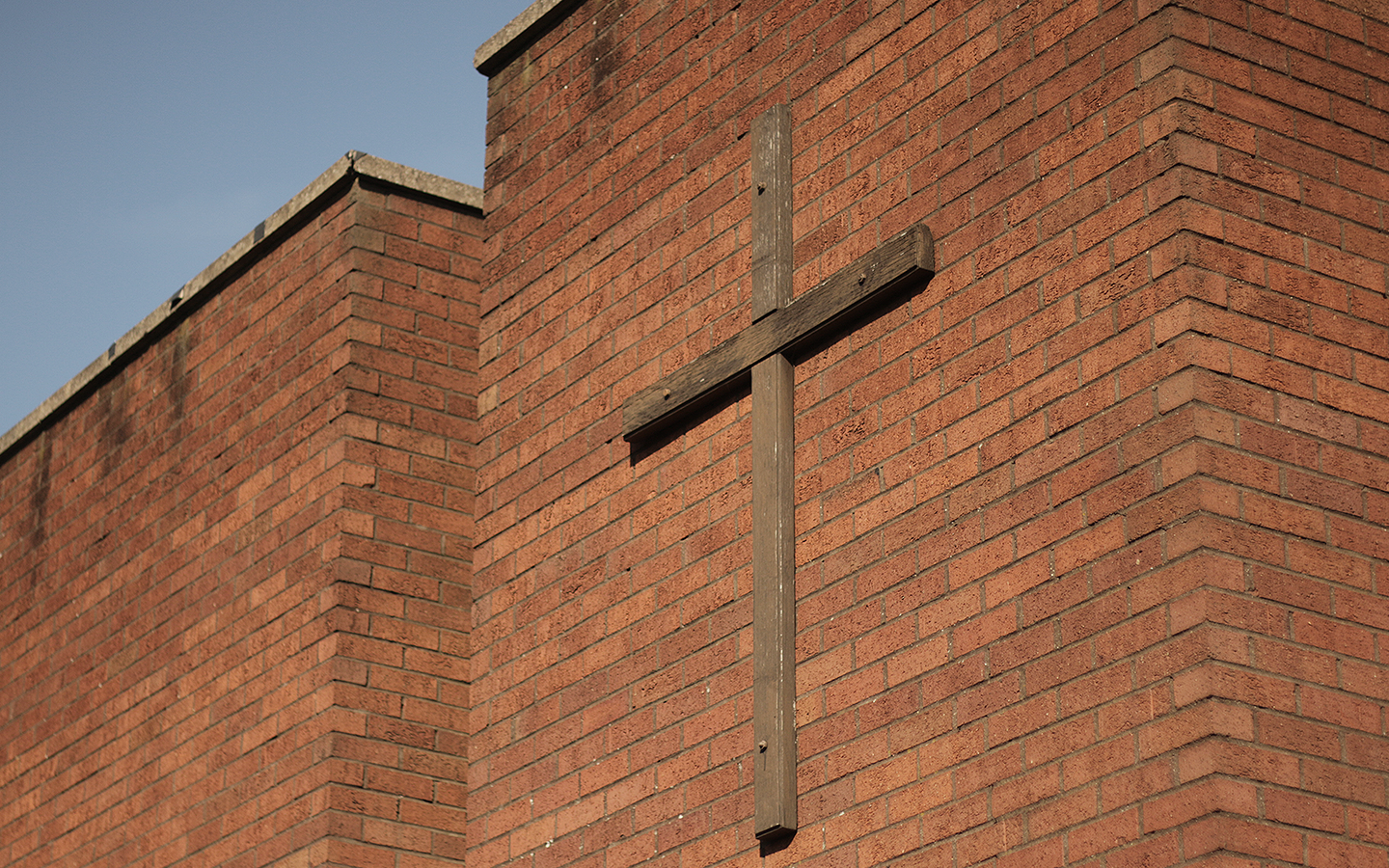 Cross on front of Bilston Baptist Church