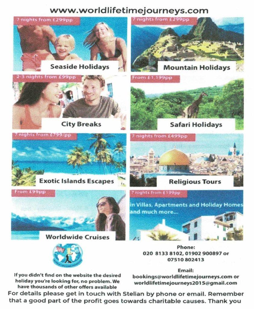 World Lifetime Journeys Flyer